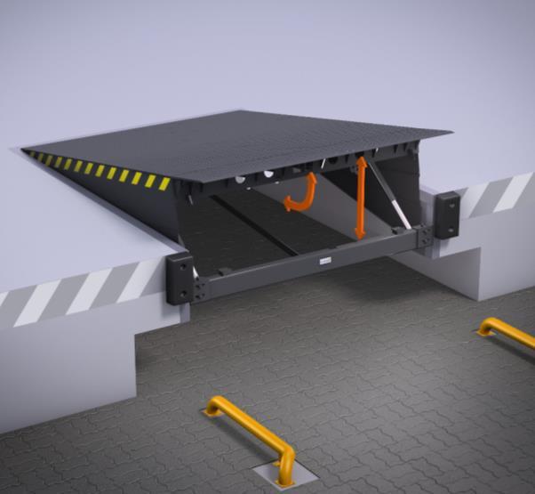 Leveling platform with swivel lip ALUTECH SL 2500х2000