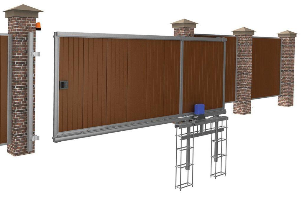 Foundation preparation for sliding gates